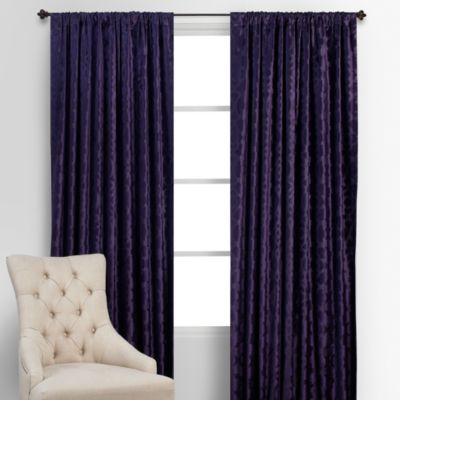 benito velvet panels - aubergine | jameson avignon bedroom