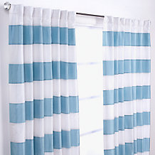 Capri Panels - Aqua and Ivory