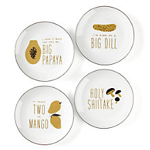 Food For Thought Plates - Set of 4