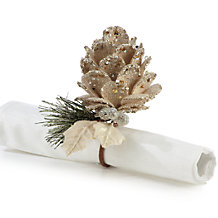 Pinecone Napkin Ring - Set of 4