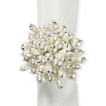 Pearl Cluster Napkin Ring - Set ...