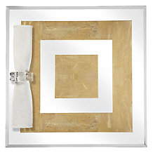 Gold Leaf Mirror Placemat - Set of 4