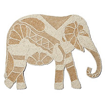 Beaded Elephant Placemat - Set of 4