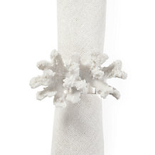 Coral Napkin Ring - Set of 4
