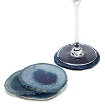 Agate Coaster - Set of 4 - Peacock
