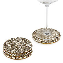 Metallic Studded Coaster - Set of 4