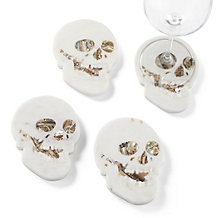 Marble Skull Coaster - Set of 4