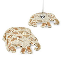 Beaded Elephant Coaster - Set of 4