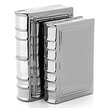 Ceramic Books - Set of 8 - Silver
