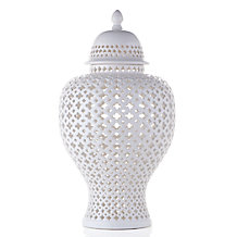Ceramic Filigree Jar
