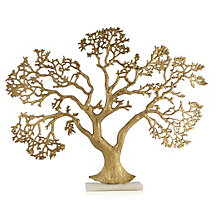 Golden Tree On Marble