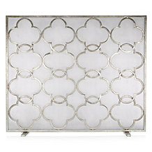 Quatrefoil Fire Screen