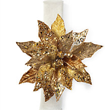 Pointsettia Napkin Ring - Set of 4