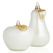 Glass Pear and Apple