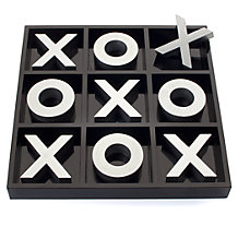 Tic Tac Toe Game - Black & Silver