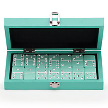 Bling Domino Set With Aquamarine...