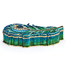 Peacock Feather Trinket Box