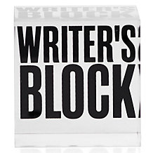Writer's Block Paperweight