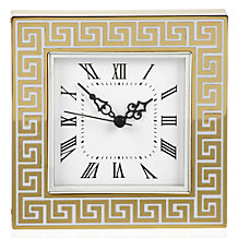 Greek Key Table Clock