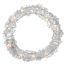 Ice Crystal LED Wreath
