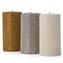 Beaded Pillar Candle