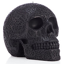 Raven Carved Skull Candle