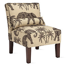 Ravi Slipper Chair - Sandelwood