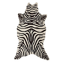 Zebra Rug - Chocolate