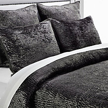 Brooklyn Quilted Bedding - Charcoal