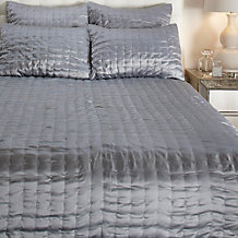 Aviana Quilted Bedding - Silver