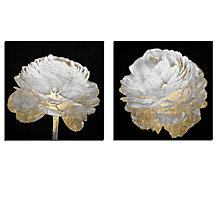 Gold And White Blossom - Set of 2