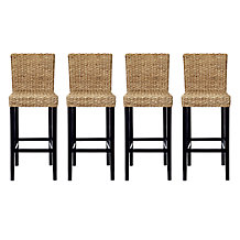 Chic Combo - 4 Hyacinth Bar Stools