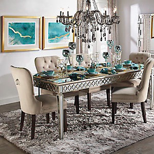 Sophie Mirrored Dining Room Inspiration
