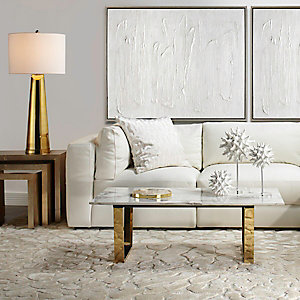 White Stratus Living Room Inspiration