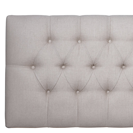 Edward Headboard - Linen - Edward Headboard - Linen Headboards Bedroom Furniture