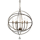 "Six-arm Chandelier 22""D"