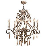 "Six-arm Chandelier 28""W"