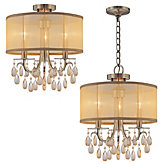 "Three-arm Chandelier 14""W"