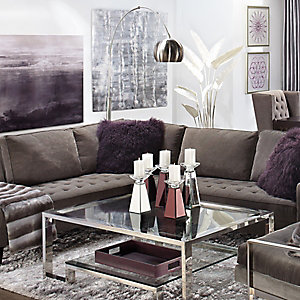 Attractive Vapor Sectional Aubergine Living Room Inspiration