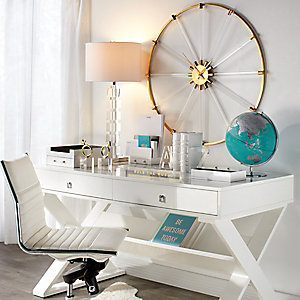 Jett Desk White Aqua Office Inspiration