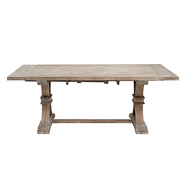 Attractive Archer Wash Oak Extending Dining Table