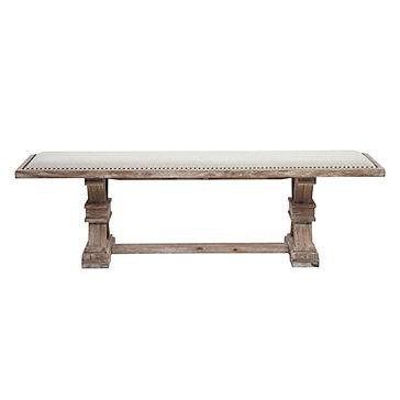 Archer Wash Oak Wood Bench