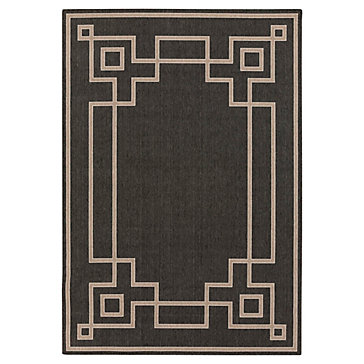 Lovely Avila Indoor/Outdoor Rug   Black