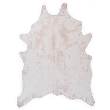 Ayi Faux Cowhide Rug Ivory West Street Relaxed Bedroom