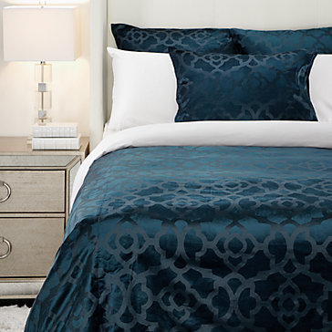 Benito Velvet Bedding Cerulean Ho15 Bedroom3 Bedroom