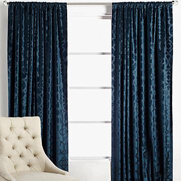 benito velvet panels - cerulean | porter cerulean bedroom