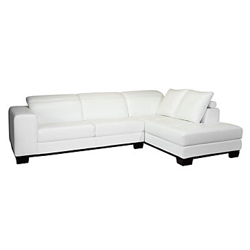 Brooklyn Sectional - White | Sectionals | Living Room | Furniture
