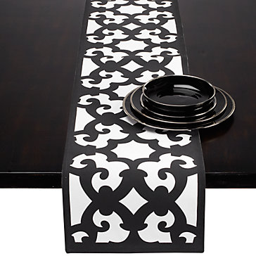 I Loved The Idea Of A Black And White Table Runner Thought It Would Add Some Nice Dimension To My Lacking Dining E Wanted With