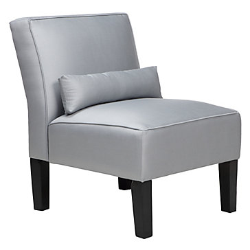 Charlie accent chair silver silk chairs living room for Z gallerie living room chairs