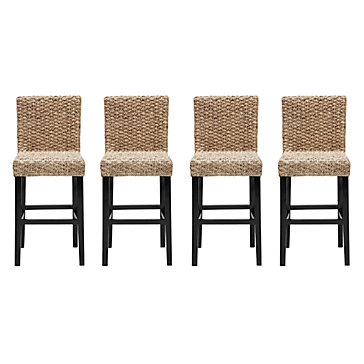 Chic Combo 4 Hyacinth Counter Stools Dining Room
